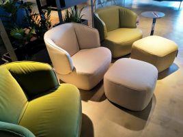 Rolf Benz fauteuil + hocker 384