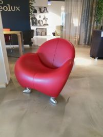 Leolux fauteuil Papageno in leder