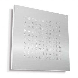 QLOCKTWO - Classic Staal klok Nederlands