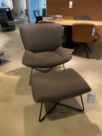 Rolf benz - SE 383 fauteuil en voetenbank