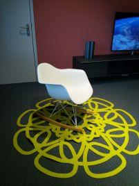 Vitra schommelstoel RAR Eames plastic chair